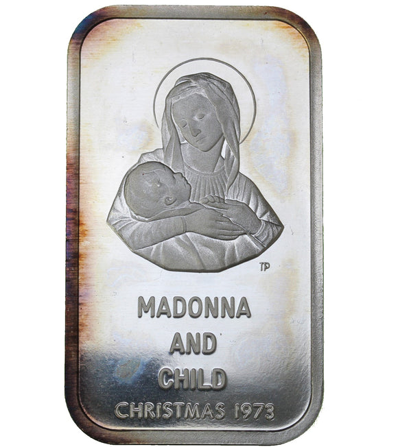1 oz - Colonial Mint - 1973 Madonna and Child  - Fine Silver Bar