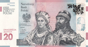SOLD - 2015 - Poland - 20 Zlotych - 1050th Anniversary of the Baptism of Poland