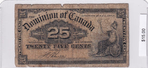 1900 - Canada - 25 Cents - Boville