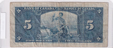 Load image into Gallery viewer, SOLD - 1937 - Canada - 5 Dollars - H/S 7661241