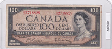 Load image into Gallery viewer, SOLD - 1954 - Canada - 100 Dollars - B/J 2718828