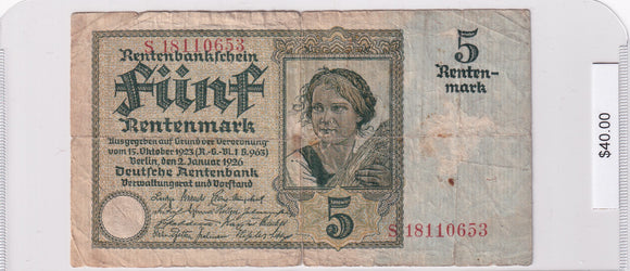 1926 - Germany - 5 Mark - S 18110653