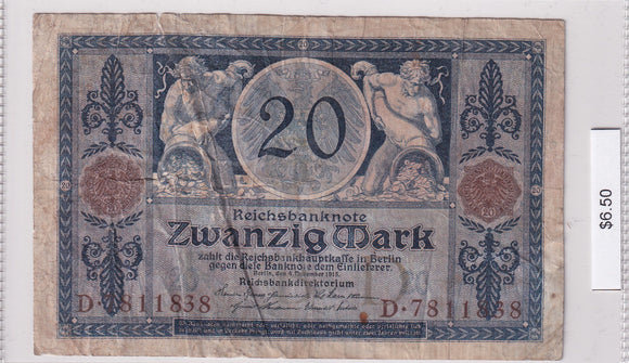 1915 - Germany - 20 Mark - D 7811838