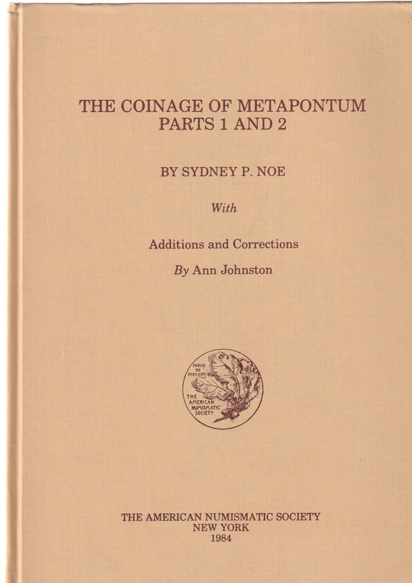 The Coinage of Metapontum Parts 1 and 2