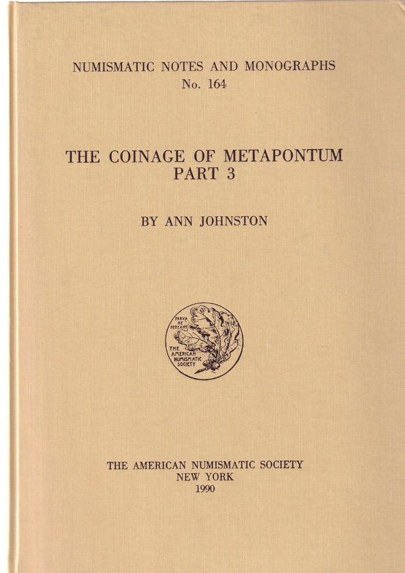 The Coinage of Metapontum Part 3