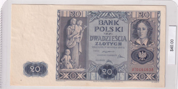 1936 - Poland - 20 Zlotych - AT0464638