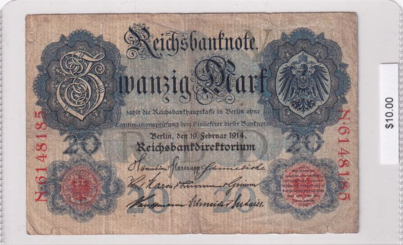 1914 - Germany - 20 Mark - N 6148185
