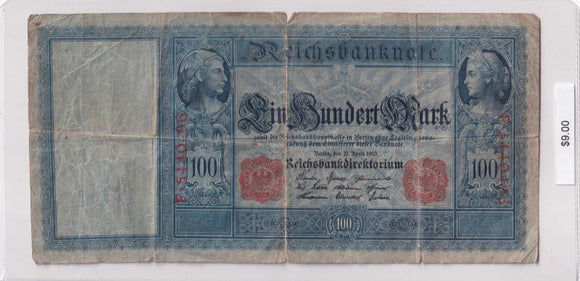 1910 - Germany - 100 Mark - F 5440296