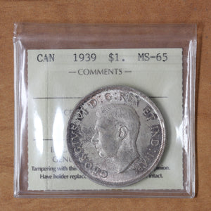 SOLD - 1939 - Canada - $1 - MS65 ICCS - retail $300 - 25% OFF