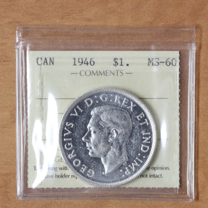 SOLD - 1946 - Canada - $1 - MS60 ICCS - retail $140