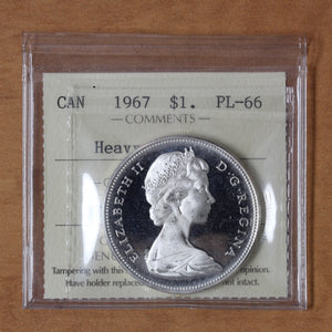 SOLD - 1967 - Canada - $1 - PL66 (Heavy Cameo) ICCS