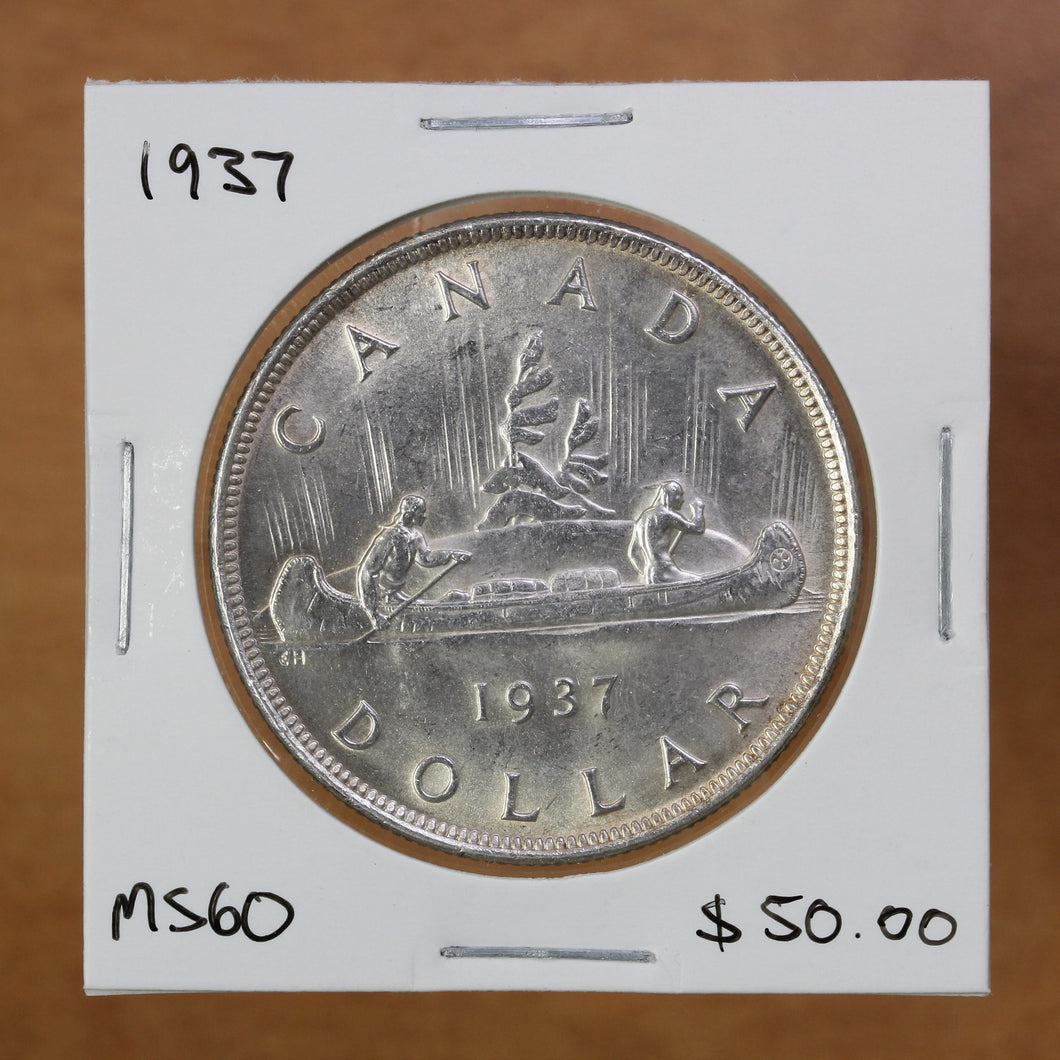 SOLD- 1937 - Canada - $1 - MS60