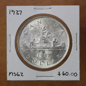 SOLD - 1937 - Canada - $1 - MS62