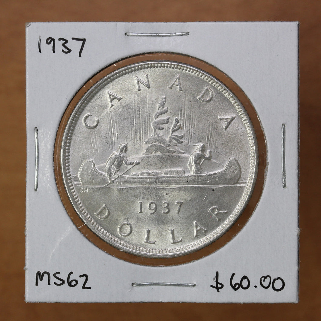 SOLD - 1937 - Canada - $1 - MS62 - retail $60