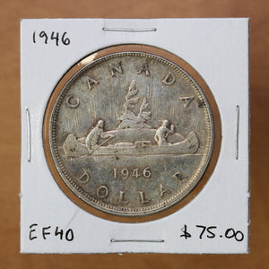 SOLD - 1946 - Canada - $1 - EF40 - retail $75