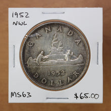 Load image into Gallery viewer, SOLD - 1952 - Canada - $1 - NWL - MS63 - retail $65