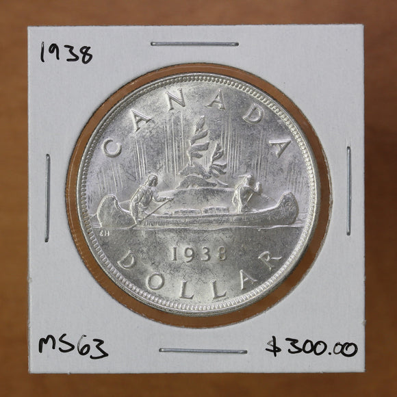 1938 - Canada - $1 - MS63 - retail $300