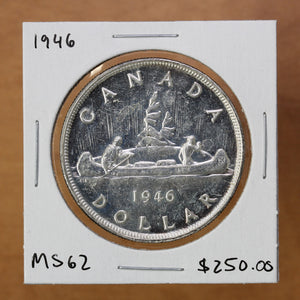 1946 - Canada - $1 - MS62 - retail $250 - 25% OFF!