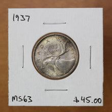 Load image into Gallery viewer, 1937 - Canada - 25c - MS63 - retail $45