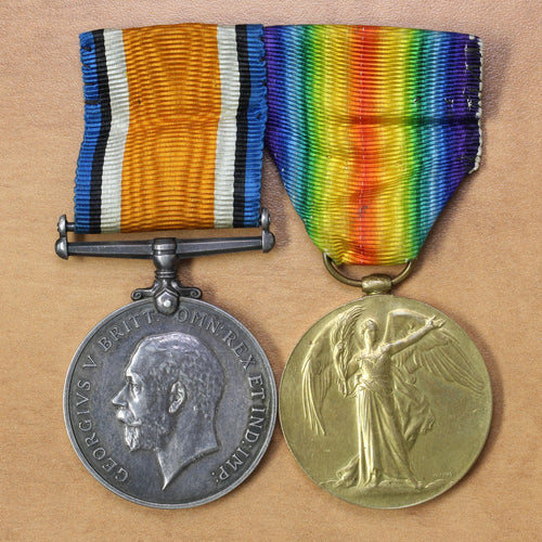 SOLD - 1914-1918 British War Medal and Allied Victory Medal - 2 pcs