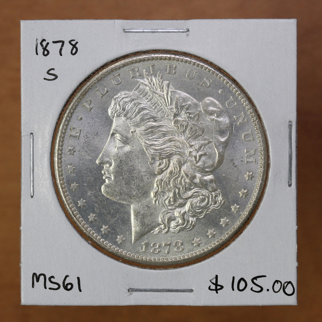 1878 S - USA - $1 - MS61 - retail $105