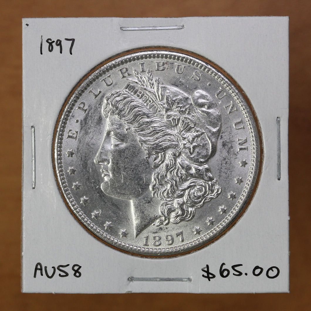 SOLD - 1897 - USA - $1 - AU58 - retail $65
