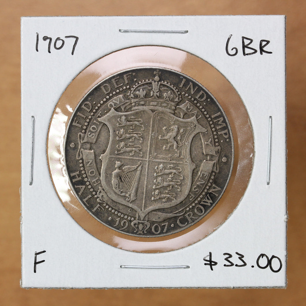 SOLD - 1907 - Great Britain - Half Crown - F12