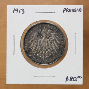 SOLD - 1913 A - Germany (Prussia) - 2 Mark - BU