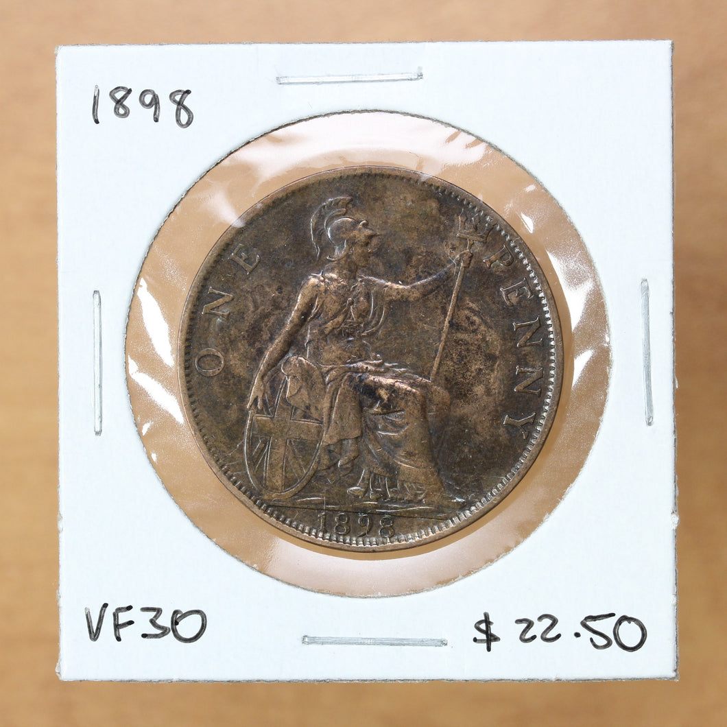 1898 - Great Britain - 1 Penny - VF30