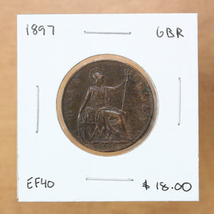1897 - Great Britain - 1/2 Penny - EF40