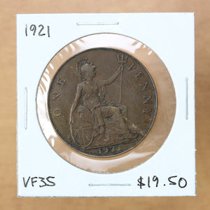 1921 - Great Britain - 1 Penny - VF35
