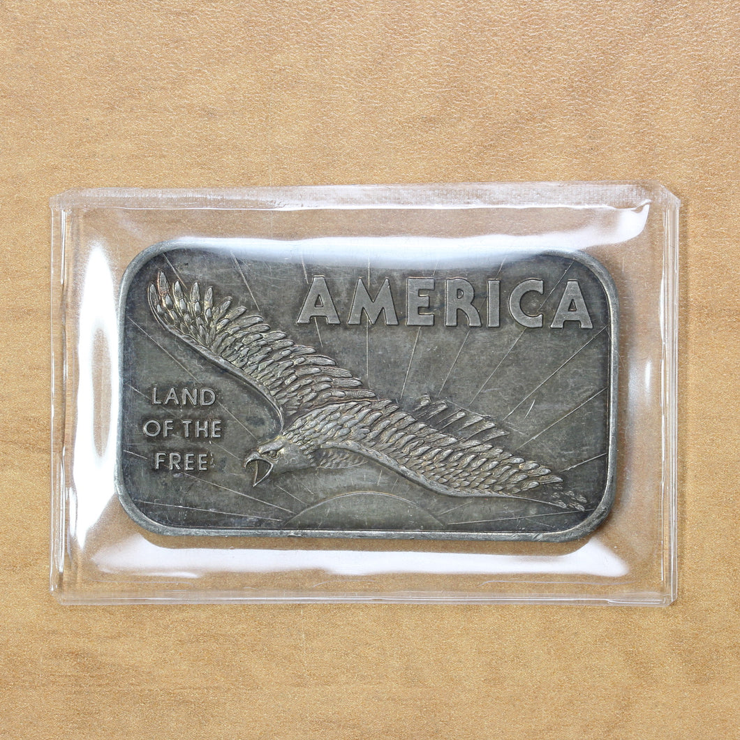 America, Land of the Free - American Argent Mint - Fine Silver - 1 oz. Bar