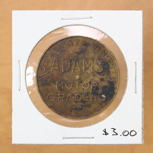 SOLD - Adams Motor Graders - Token