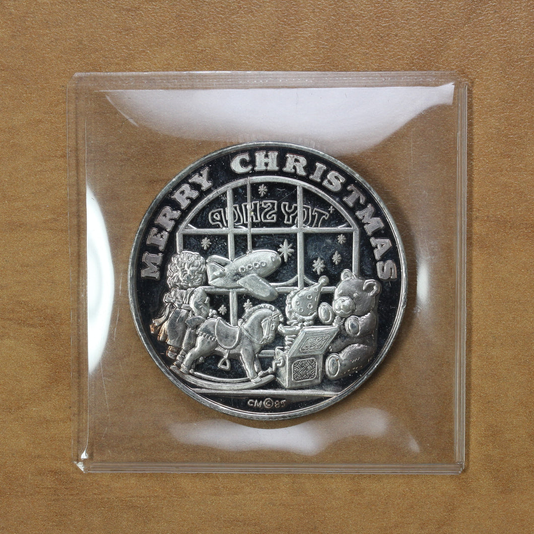 SOLD - Merry Christmas - Crown Mint - Fine Silver - 1 oz. Round