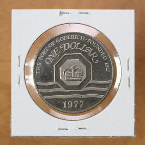 1977 - Goderich - $1 Municipal Trade Token - UNC