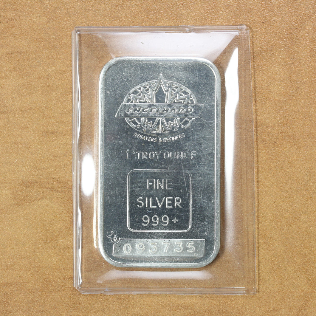SOLD - Maple Leaf - Engelhard - Fine Silver - 1 oz. Bar
