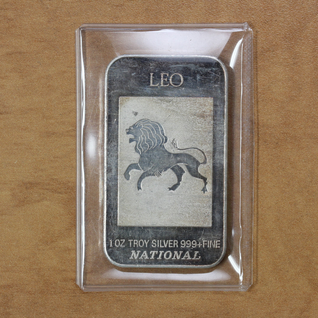 SOLD - Leo - National Mint - Fine Silver - 1 oz. Bar