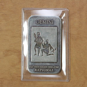 Gemini - National Mint - Fine Silver - 1 oz. Bar