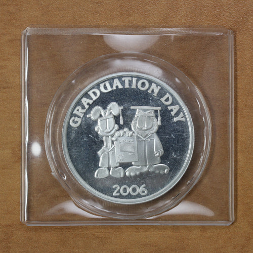 Garfield Graduation Day (2006) - Fine Silver - 1 oz. Round - 35% OFF!