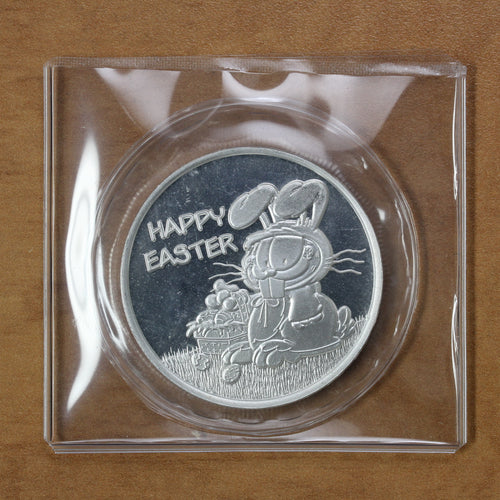 Garfield Happy Easter - Fine Silver - 1 oz. Round - 35% OFF!