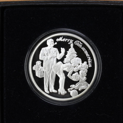 Merry Consumerism - Pure Silver - 1 oz. Round - Proof
