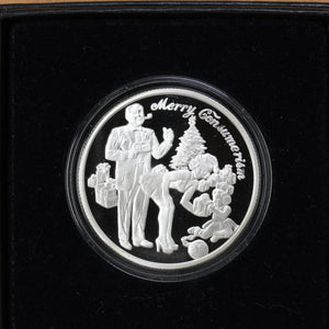 SOLD - Merry Consumerism - Pure Silver - 1 oz. Round - Proof