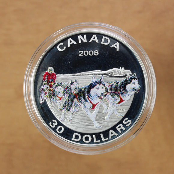 SOLD - 2006 - Canada - $30 - Dog Sled Team - Proof - 45% OFF!