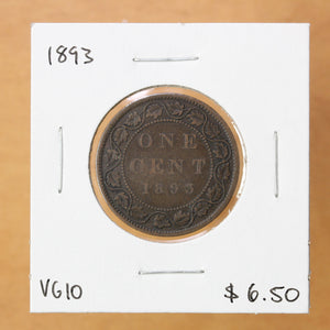 SOLD - 1893 - Canada - 1c - VG10