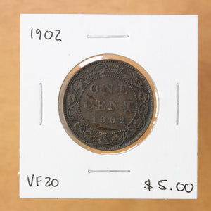 SOLD - 1902 - Canada - 1c - VF20