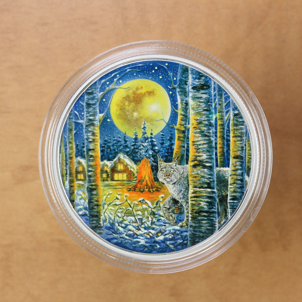 SOLD - Canada - $30 - Animal in the Moonlight: Lynx - Proof