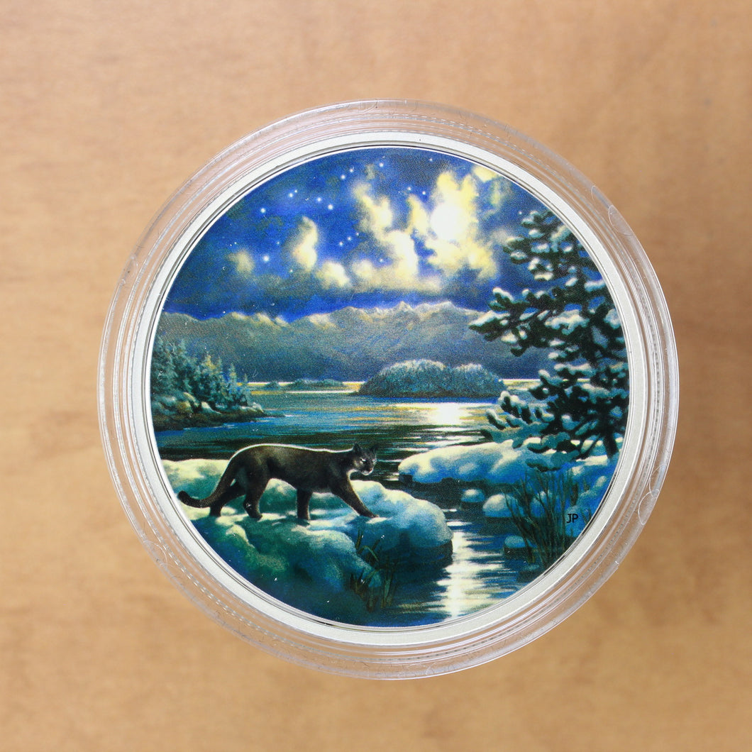 SOLD - 2017 - Canada - $30 - Animal in the Moonlight: Cougar - Proof