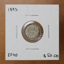 Load image into Gallery viewer, SOLD - 1893 - Canada - 5c - EF40 - retail $50