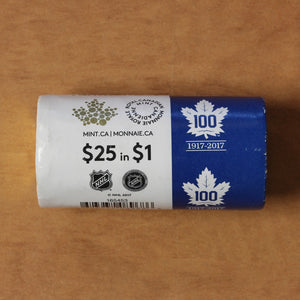 SOLD - 2017 100th Anniv. of the Toronto Maple Leafs - Special RCM Wrapped Roll (25pcs.)