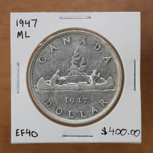 Load image into Gallery viewer, SOLD - 1947 - Canada - $1 - ML - EF40